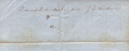 An account of the stockholders of the new meeting house in Londonderry from 1837 (back)