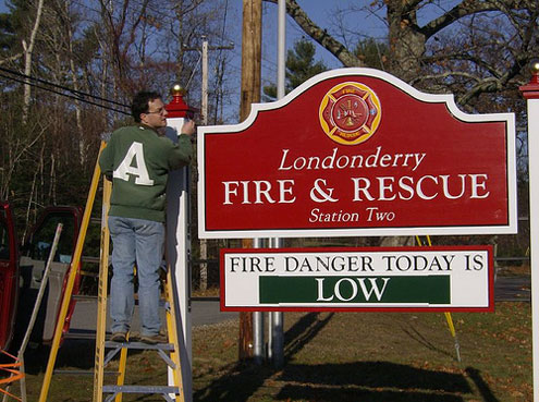 South Fire Station Sign Londonderry News