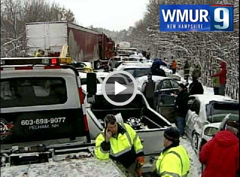 Londonderry Fire Assists in 59 vehicle Route 93 Pileup
