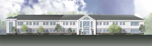 New Elliot Medical Office Building in Londonderry, New Hampshire Rendering by Cube 3 Studio