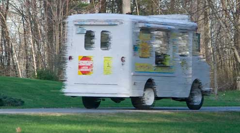 "Photo Illustration  of a Londonderry ""Ding-a-Ling"" truck"