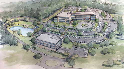 Falling Water proposed first class office space project in Londonderry, New Hampshire
