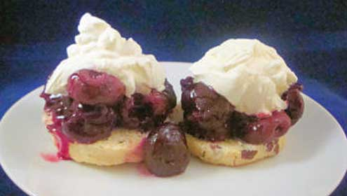 Cherry Shortcake from Anastasias Table in Londonderry, New Hampshire
