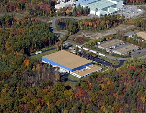 Buderus located in Londonderry, New Hampshire. Aerial view of the plant by ImageAbility Inc.