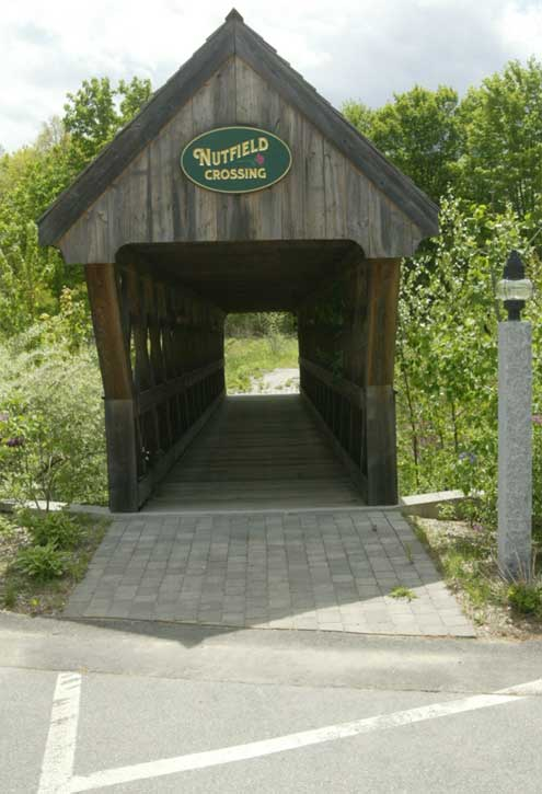 The Nutfield Crossing Bridge is just an example of the beautiful landscape surrounding the Schaefer Mortgage building.