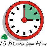 15 Minutes From Home Clock