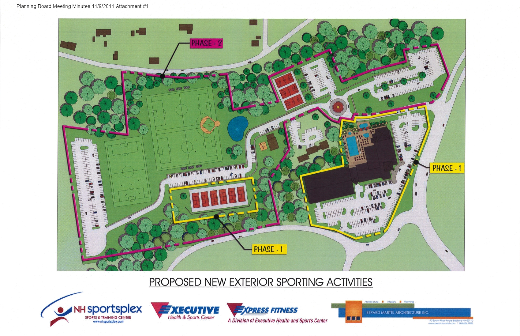 Executive Health Club and Sports Center Expansion Plans