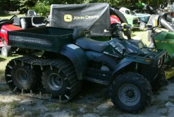 "ATV with Tracks at ""Lawn Mower Man"" four arrested attempting to steal them September 16th 2012"